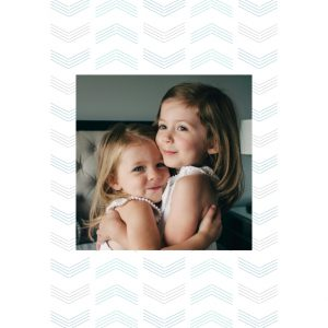 "Airy Arrows 8x8"" Slim Photo Canvas Print, Home Décor Blue"