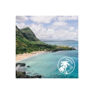 "Hawaii 8x8"" Slim Photo Canvas Print, Home Décor White"