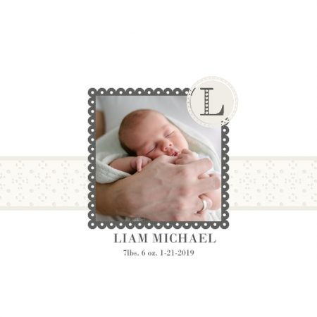 "Hello Baby Frame 8x8"" Slim Photo Canvas Print, Home Décor White"