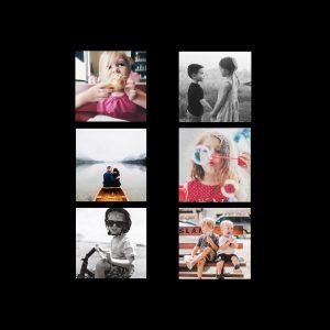 "Instagram 8x8"" Slim Photo Canvas Print, Home Décor Black"