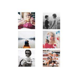 "Instagram 8x8"" Slim Photo Canvas Print, Home Décor White"