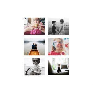 "Instagram Multi-Photo 8x8"" Slim Photo Canvas Print, Home Décor Red"