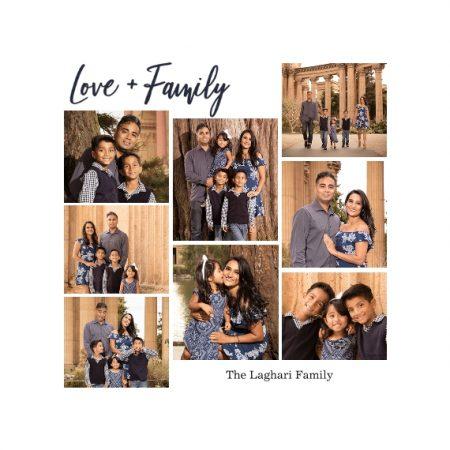 "Love Family 8x8"" Slim Photo Canvas Print, Home Décor White"