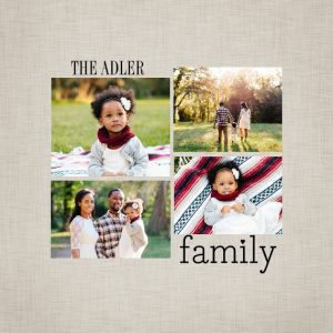 "Our Family 8x8"" Slim Photo Canvas Print, Home Décor Brown"