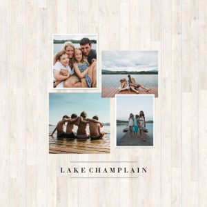 "Summer Collage 8x8"" Slim Photo Canvas Print, Home Décor ivory"