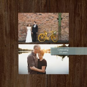 "Wedding Anniversary 8x8"" Slim Photo Canvas Print, Home Décor Brown"