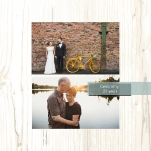 "Wedding Anniversary 8x8"" Slim Photo Canvas Print, Home Décor ivory"