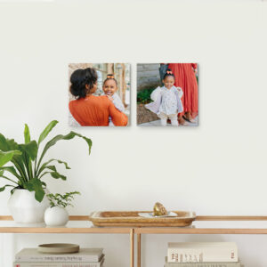 "Set of 2 8x8"" Slim Canvas Prints, Home Décor"