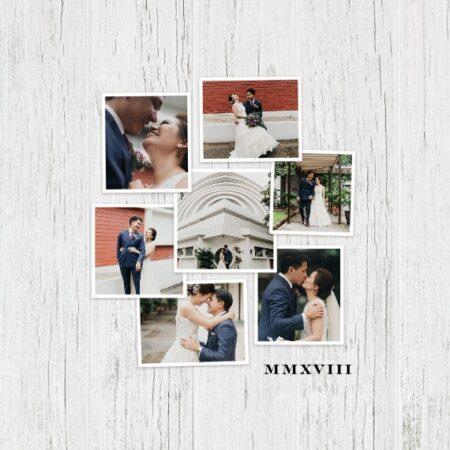 """Simple Snapshots 8x8"""" Slim Photo Canvas Print, Home Décor White"""